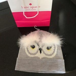 Kate Spade ♠️ Brand NWOT Owl 🦉 Beanie OS